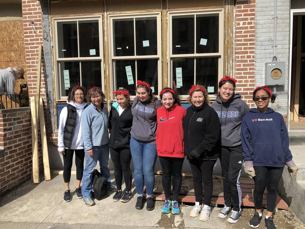 WHS Community Service Club Volunteered for Habitat for Humanity