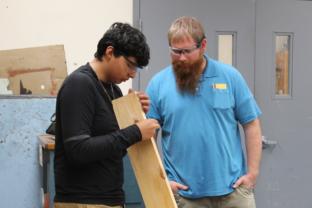 Woodworking Students
