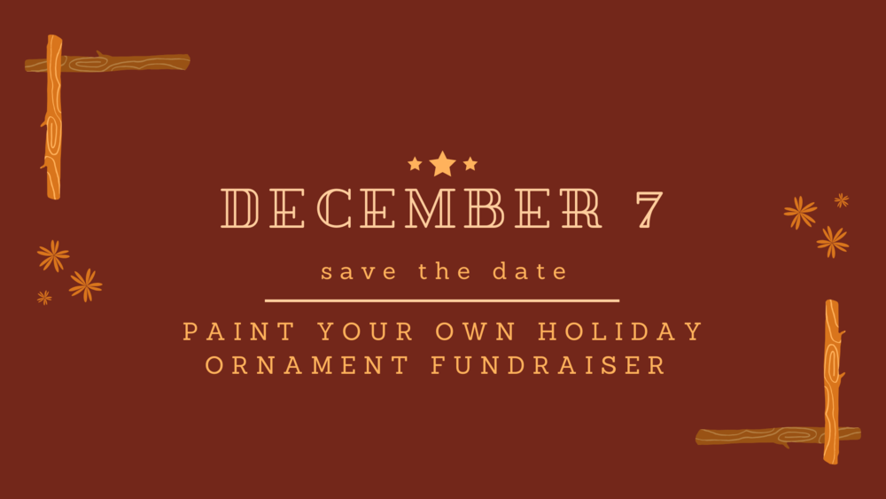 Paint Your Own Holiday Ornament Fundraiser