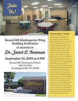 TONIGHT: Round Hill Kindergarten Wing Building Dedication Ceremony