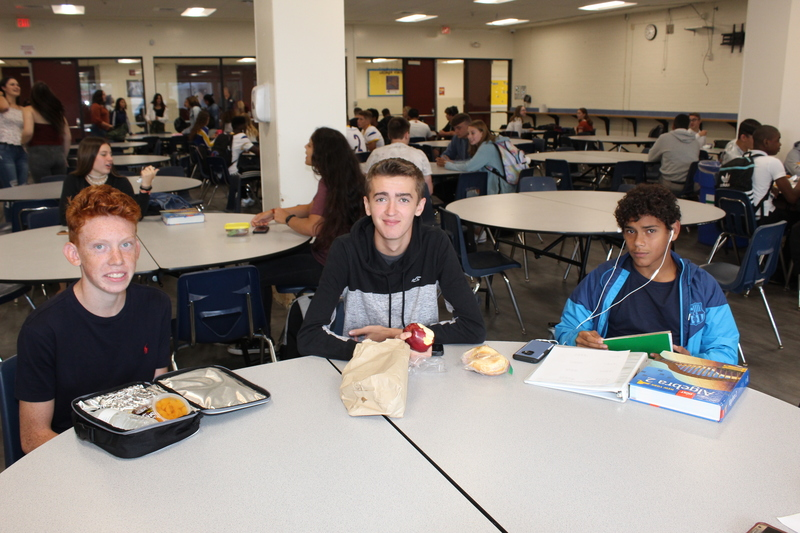 Students at lunch in HS